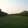 A view of the driving range at Aravalli Golf Club (Golfgaga Greens)