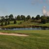 A view of hole with water coming into play at Spring Hollow Golf Course