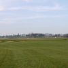 A view of a well protected green at Broadlees Golf