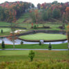 A view of the island green, #18 at The Brier Patch Golf Links