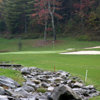 A view of a well protected green at The Brier Patch Golf Links