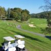 A view of a green protected by bunkers at Cacapon Resort State Park (Steve N Tina)
