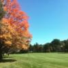 A fall day view of a fairway at Woodland Golf Club
