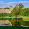 View of the 1st green from the Lakemont at Stone Mountain Golf Course