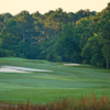 View of the finishing hole from the Stonemont at Stone Mountain Golf Course