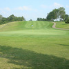 A view of the 1st green at Bluff Creek Golf Course