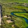 Aerial view from Bushfoot Golf Club