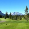 A view from a tee at Canmore Golf and Curling Club