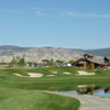 A view of the 16th hole with water on the right at The Bridges Golf & Country Club