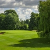 A view of a green protected by a bunker at Tewkesbury Park Hotel Golf Course