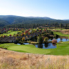 A  view of a green at Pinnacle 9 from Gallagher's Canyon Golf and Country Club