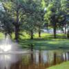 A view of a green with water coming into play at Randel-Hinkle Municipal Golf Course (MOGolfTour)