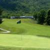 A view of a hole and the clubhouse in the distance at Fincastle on the Mountain Golf Course