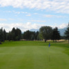 A view of the 1st green at Windermere Valley Golf Course