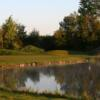 A view of a green with water coming into play at Quarry Oaks