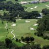 Aerial view of hole #9 and #12 from the North Course at Lake Jovita Golf & Country Club