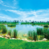 A view over a pond at Queen's Island Golf & Village