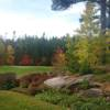 A fall day view of a hole at Rocky Crest Golf Club