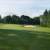 A view of a green flanked by bunkers at Kedron Dells Golf Course