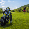 A view of a tee at Academy Golf Budapest