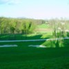 A view of a well protected hole at Jelsingrad Golf