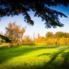 A splendid fall day view of a green at Orton Meadows Golf Course
