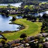 Aerial view of the 15th green at Country Club of Silver Springs Shores