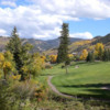 View of the 5th green at EagleVail Golf Club.