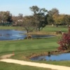 A fall day view of a fairway from The Golf Club at Middle Bay