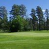 A view of a hole at Evergreen Golf Club.