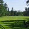 A view of a tee at Evergreen Golf Club.