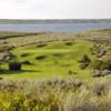 A view of a green at Sage View Golf Course.