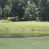 A view of a green with water coming into play at Westwood Shores Country Club.