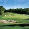 A view of green #6 at The Ridge at Manitou Golf Club.