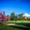 A splendid spring day view of a hole at Henley Golf Club