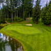 A view of a green at Gold Mountain Golf Course