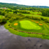 View of the 17th hole from the Eagle's Talon Course at Willows Run Golf Club
