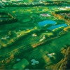 Aerial sunset view from Castleknock Golf and Country Club