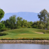 A view over the water of a hole at del Lago Golf Club.