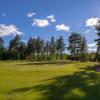 A view of green #10 at Mora Golf Club.