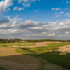 A sunny day view from Mammoth Dunes Course at Sand Valley Golf Resort.