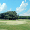 A view of a well protected green at Bacon Park Golf Course.