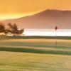 A view of a green at Sask Landing Golf Resort.