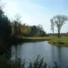 A view over the water of a green at Blackwater Golf Course.
