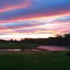 A view over the bridge at Quinton Oaks Golf Course.