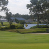 A view of a green at Lily Lake Golf Resort.