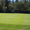 A view of a hole at The Oaks Golf Club.