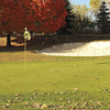 A fall day view of a hole at Maples Golf Club.