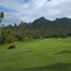 A view from fairway #1 at Laucala Island Resort.
