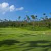 A view of hole #18 at Laucala Island Resort.